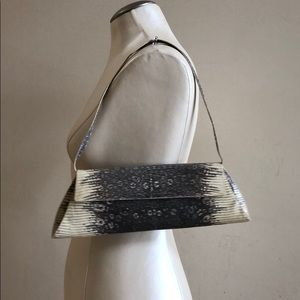 NANCY GONZALEZ Lizard Clutch/Evening Bag